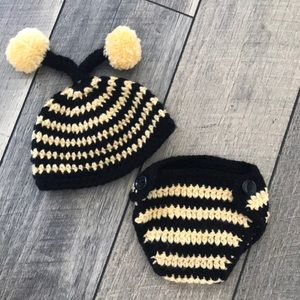 Other - Newborn Crochet Bumble Bee Set
